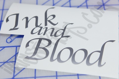 Ink And Blood Sticker