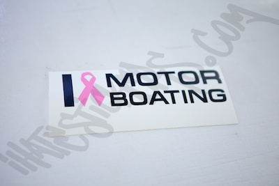 I Heart MotorBoating sticker