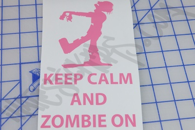 Keep Calm And Zombie On Sticker
