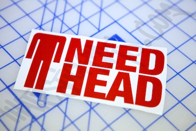Need Head Sticker