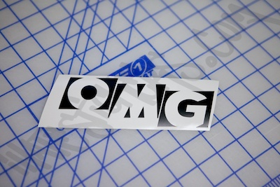 OMG Block Die Cut Sticker