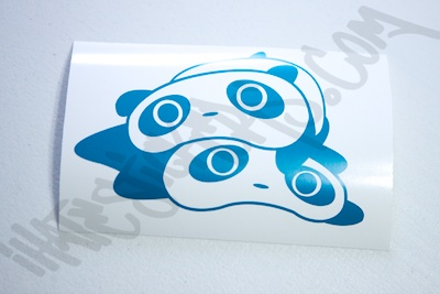 Stacked Pandas Sticker