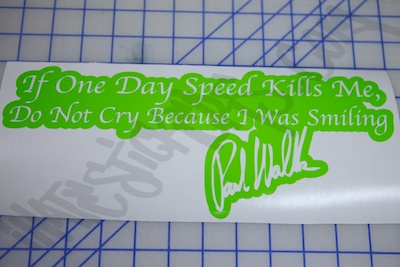 If Speed Kills Me Sticker