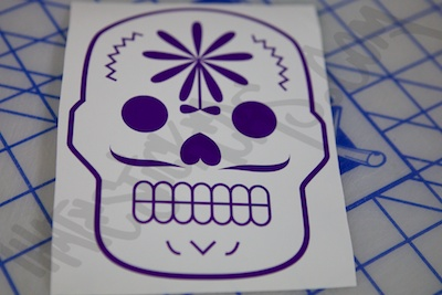 Sugar Skull Flower Design Sticker