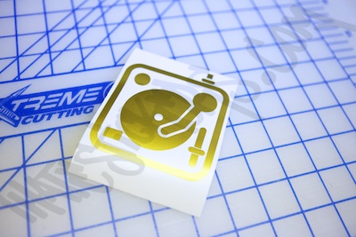 Turntable Icon Sticker