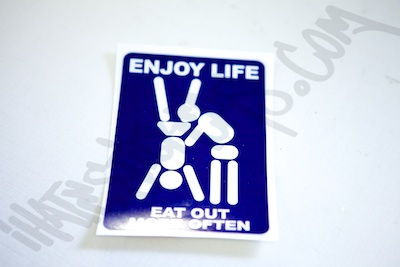 Enjoy Life Eat Out More Often Sticker