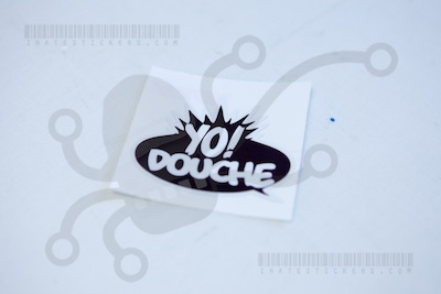 Yo Douche Printed Sticker