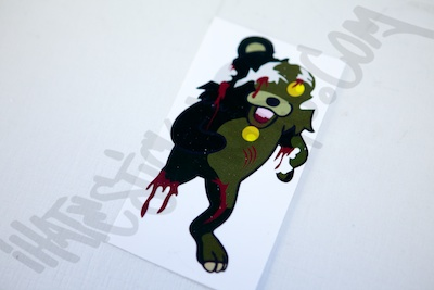 Zombie Pedo Bear Sticker