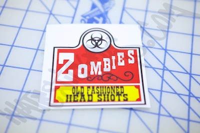 Zombie Old Fashion Head Shots Sticker