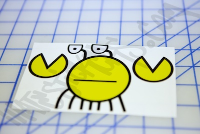 Unamused Crab Smiley Sticker
