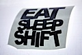 JDM Eat Sleep Shift Sticker