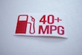 40+ MPG Pump Sticker