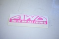 AWD Do It On All Fours Sticker