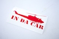 Chopper In Da Car Sticker