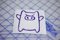 Drift Piggy Sticker