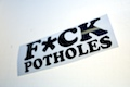 FUCK Potholes Sticker