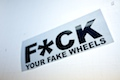 FUCK Your Fake Wheels Sticker