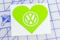 VW Heart Sticker
