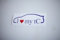I Heart My tC Outline Specialty Sticker