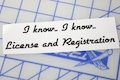 I Know I Know License And Registration Sticker