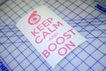 Keep Calm And Boost On Sticker