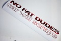 No Fat Dudes Car Will Scrape
