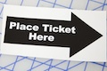 Place Ticket Here Sticker