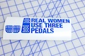 Real Women Use Three Pedals Sticker
