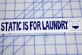 Static Is For Laundry Sticker