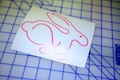 VW Rabbit Outline Sticker