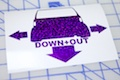 xB Down and Out Sticker