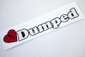 Dumped Heart Printed Sticker