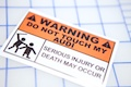 Warning Do Not Touch My Audi Sticker