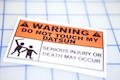 Warning Do Not Touch My Datsun Sticker