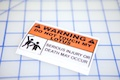 Warning Do Not Touch My Lotus Sticker