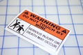 Warning Do Not Touch My Mini Sticker