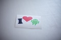 I Heart Android Sticker