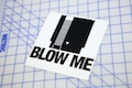 NES Blow Me Sticker