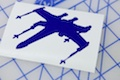 X Wing Fighter Sticker