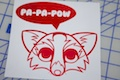 The Fox Says Pa-Pa-Pow Sticker