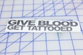 Give Blood Get Tattooed Sticker