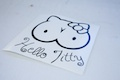 Hello Titty Diecut Sticker