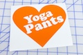 Yoga Pants Love Sticker