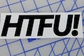 HTFU Sticker