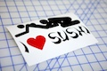 I Heart Sushi Specialty Sticker
