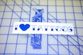 I Heart Tattoo Sticker