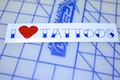I Heart Tattoo Specialty Sticker