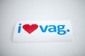 I Heart Vag Specialty Sticker