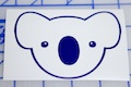 Koala Bear Face Sticker