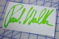 Paul Walker Signature Sticker